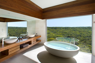 The bath of the Osprey Pavilion at Southern Ocean Lodge in Kangaroo Island, Australia