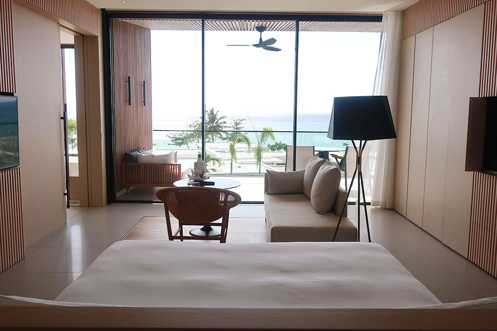 The Penthouse Level King room at Silversands in Grand Anse Beach, Grenada.
