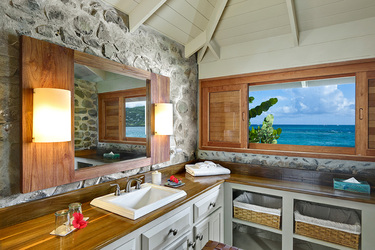 The bath of a One Bedroom Cottage at Petit St. Vincent on Petit St. Vincent Private Island, Saint Vincent and the Grenadines
