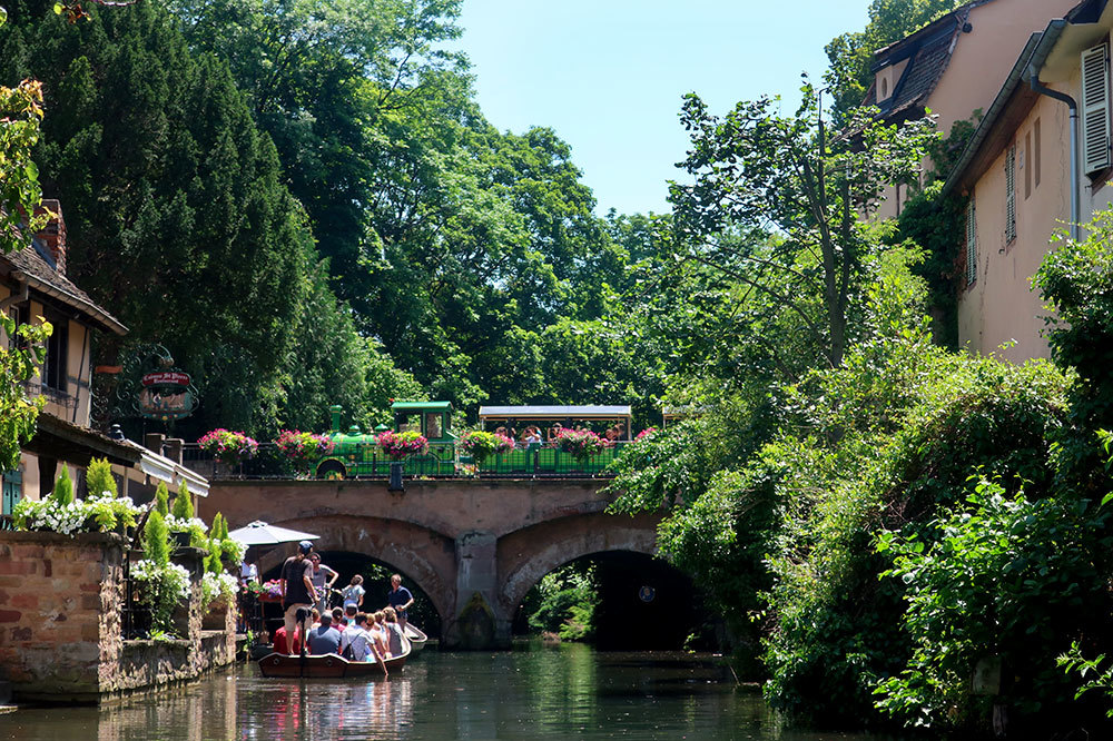 A canal cruise in the Petite Venice quarter in Colmar, France