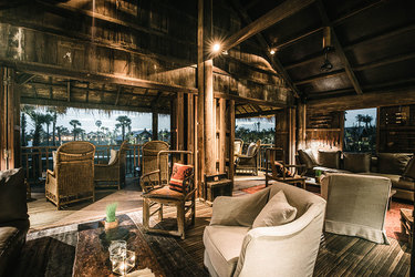 The main bar at Phum Baitang in Siem Reap, Cambodia.