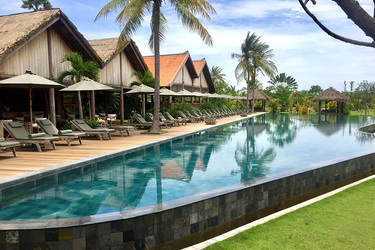 The pool at Phum Baitang in Siem Reap, Cambodia