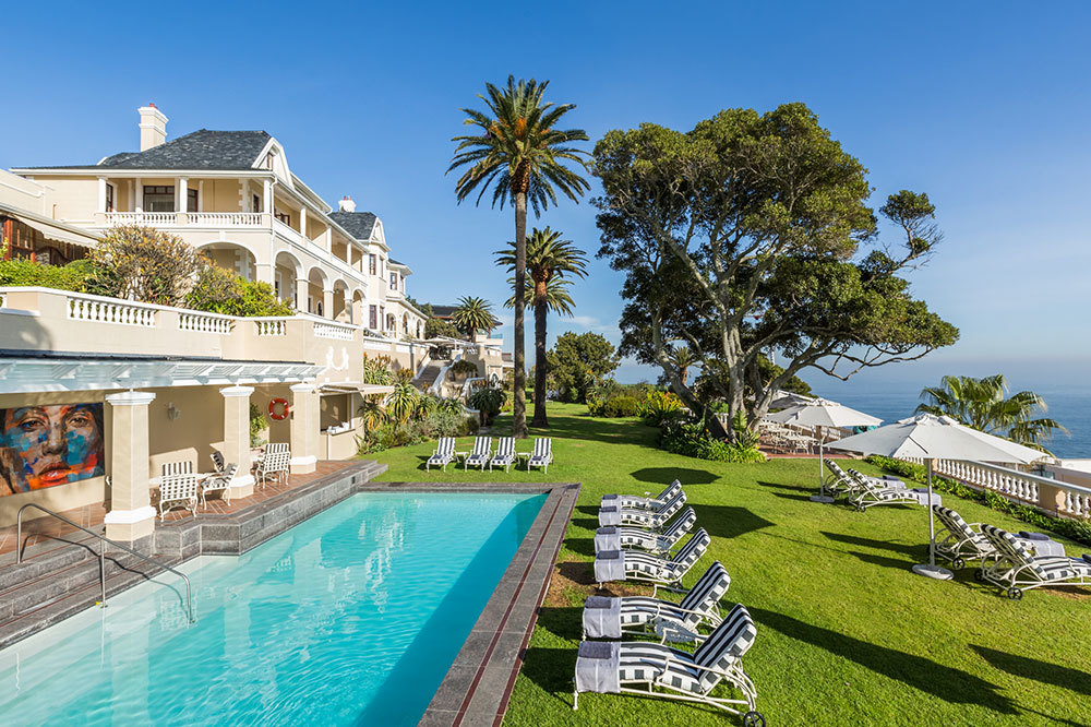 The pool at Ellerman House in Cape Town