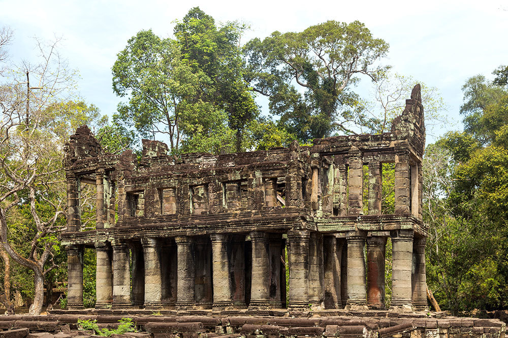 The Preah Khan temple in Siem Reap, Cambodia