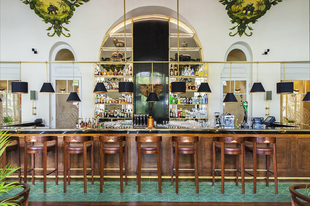 The Elephant Bar at Raffles Hotel Le Royal in Phnom Penh, Cambodia