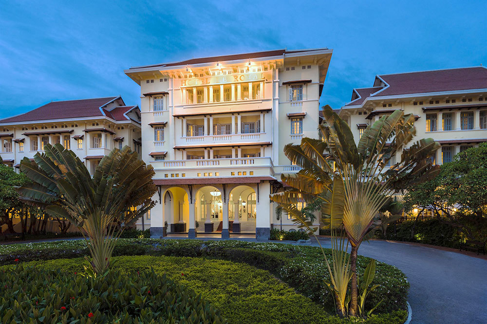 The Raffles Hotel Le Royal in Phnom Penh, Cambodia