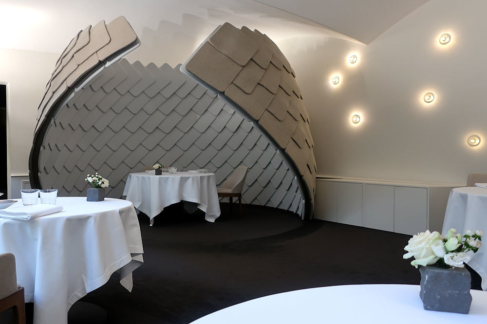 The dining room at Restaurant Girardin in Colmar, France
