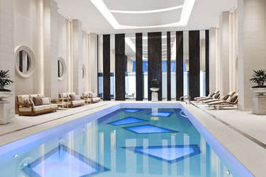 Indoor pool at The Rosewood Hotel Georgia in Vancouver, Canada