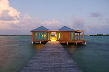 Casa Ventanas private over water bungalow at Cayo Espanto in Belize