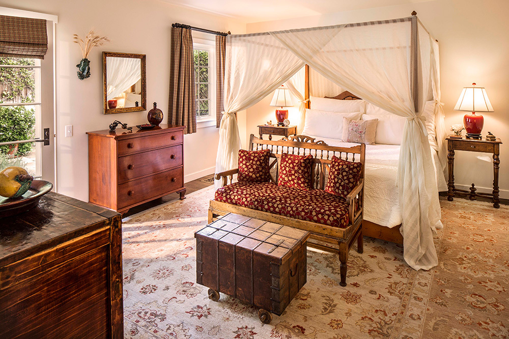 A Romantic Garden room at San Ysidro Ranch in Santa Barbara, California