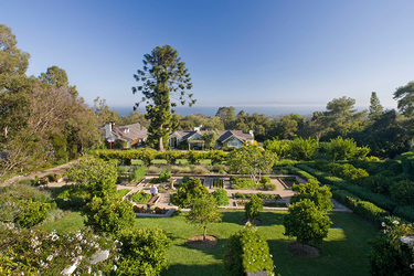 The exterior and gardens at San Ysidro Ranch in Santa Barbara, California