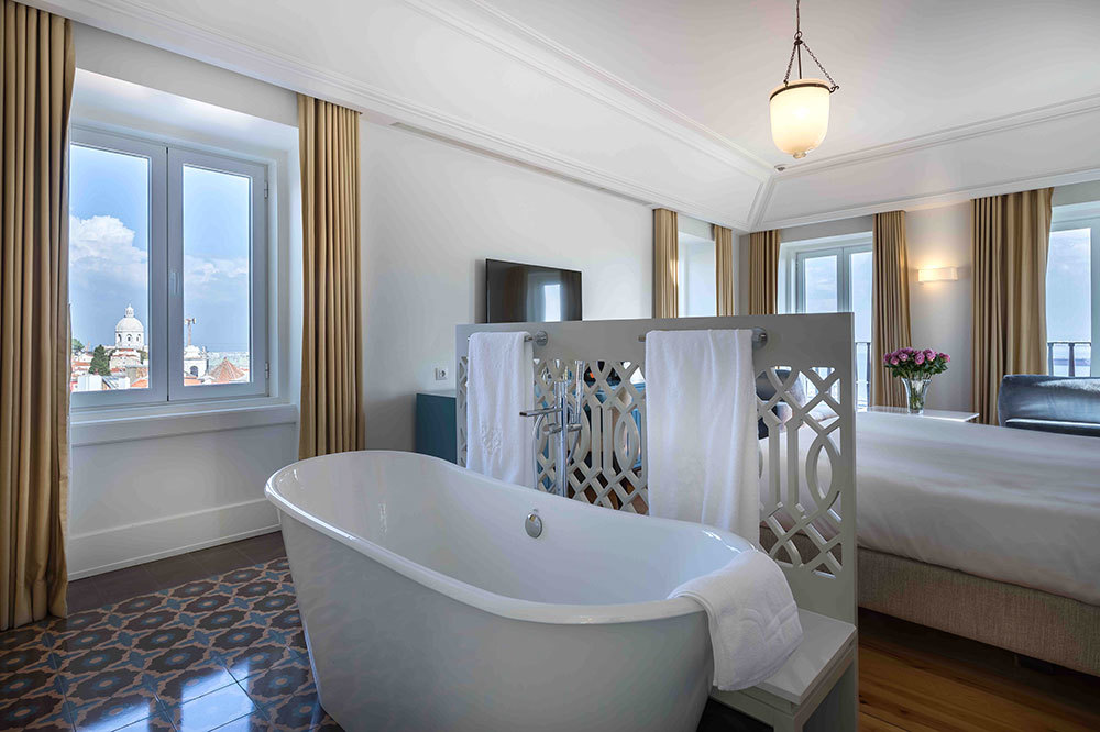 The Santiago Suite at Santiago de Alfama in Lisbon, Portugal.