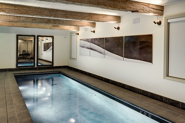 The indoor pool at Scarp Ridge Lodge in Crested Butte, Colorado