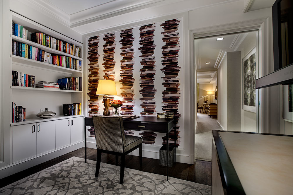Junior Suite with book shelf and reading nook at The Mark in Manhattan, New York