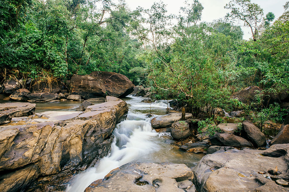 River flowing through Shinta Mani Wild in Preah Sihanouk Province, Cambodia