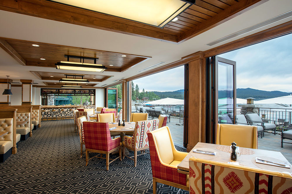 The dining room at the The Cutwater on Payette Lake at the Shore Lodge in McCall, Idaho.