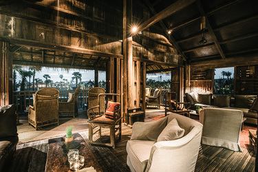 The cigar and cocktail lounge at Phum Baitang in Siem Reap, Cambodia