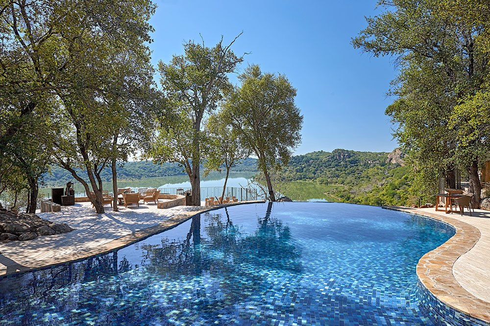 Main pool at Singita Pamushana Lodge in Malilangwe Wildlife Reserve, Africa