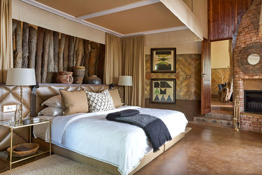 Suite bedroom at Singita Pamushana Lodge in Malilangwe Wildlife Reserve, Africa
