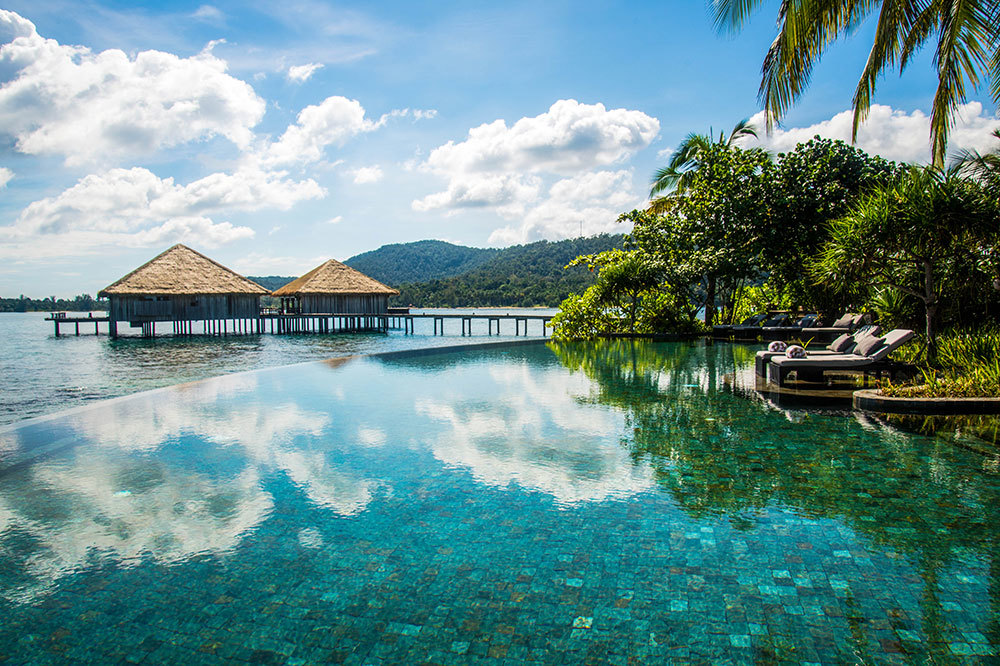 The infinity pool at Song Saa Private Island in Cambodia