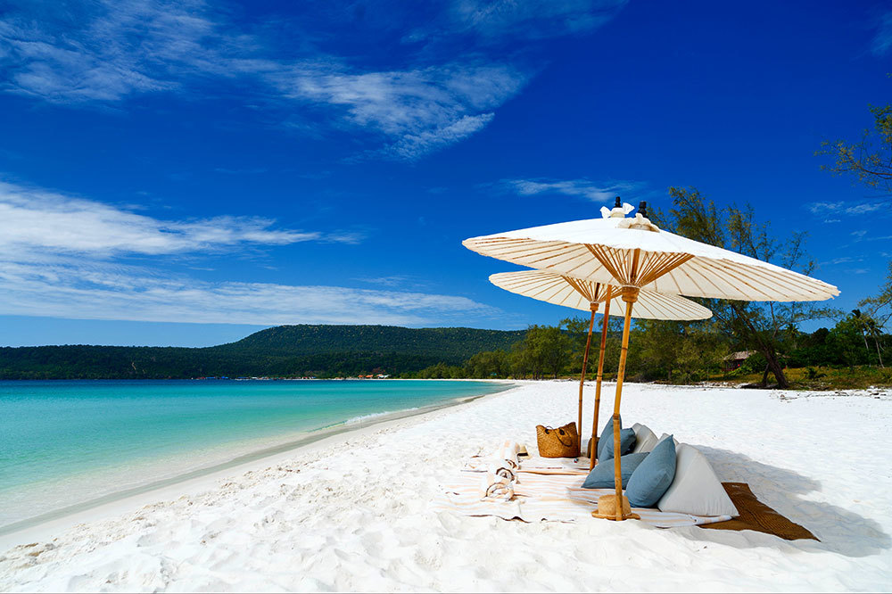 The beach at Song Saa Private Island in Cambodia