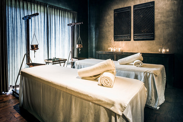 The treatment room of the spa at Phum Baitang in Siem Reap, Cambodia
