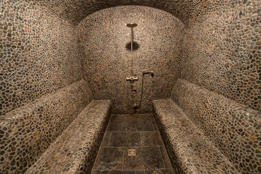 The steam room at Scarp Ridge Lodge in Crested Butte, Colorado