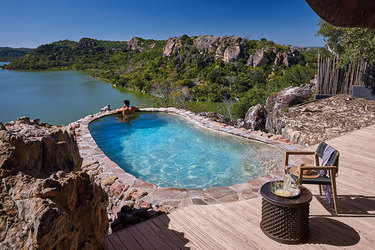 Suite plunge pool at Singita Pamushana Lodge in Malilangwe Wildlife Reserve, Africa
