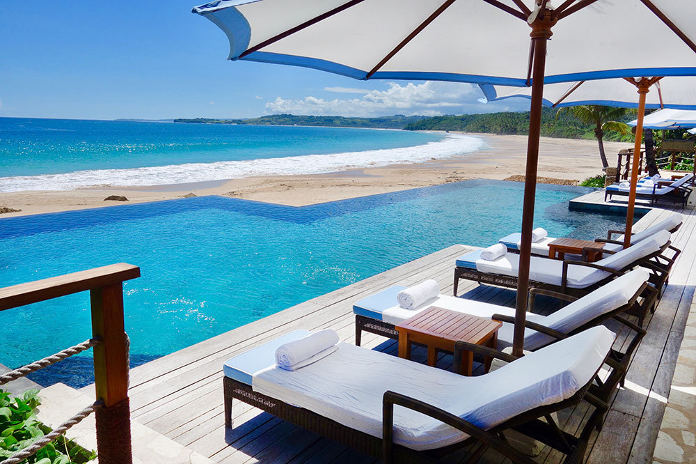 The pool on the beach at Nihi Sumba