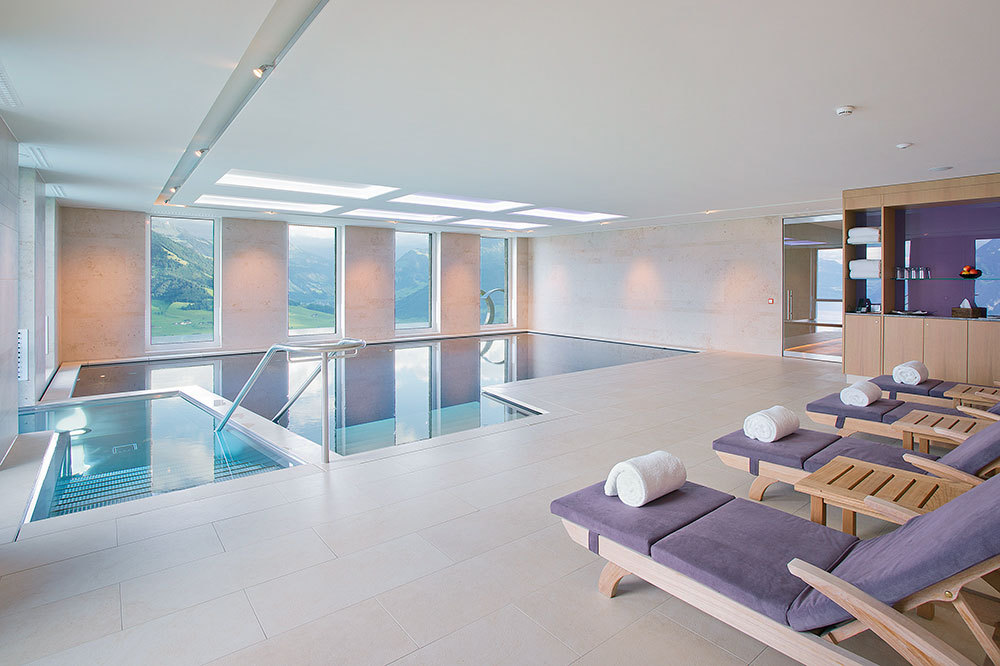 Villa Honegg Spa indoor pool