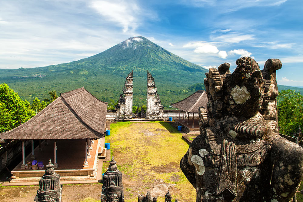 Temple near Mount Agung in Bali, Indonesia