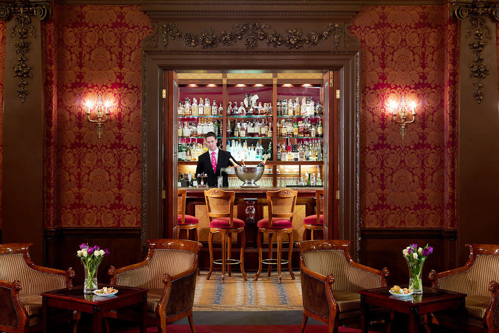 The bar at The Goring in London, England