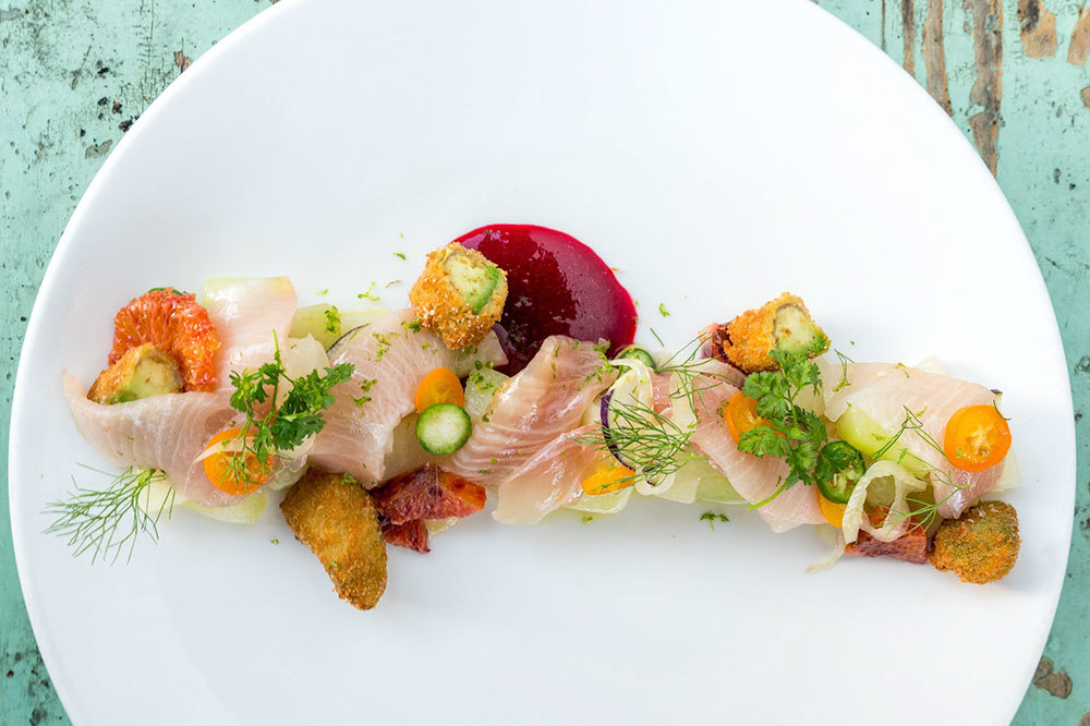 Hamachi crudo at The Lark in Santa Barbara, California
