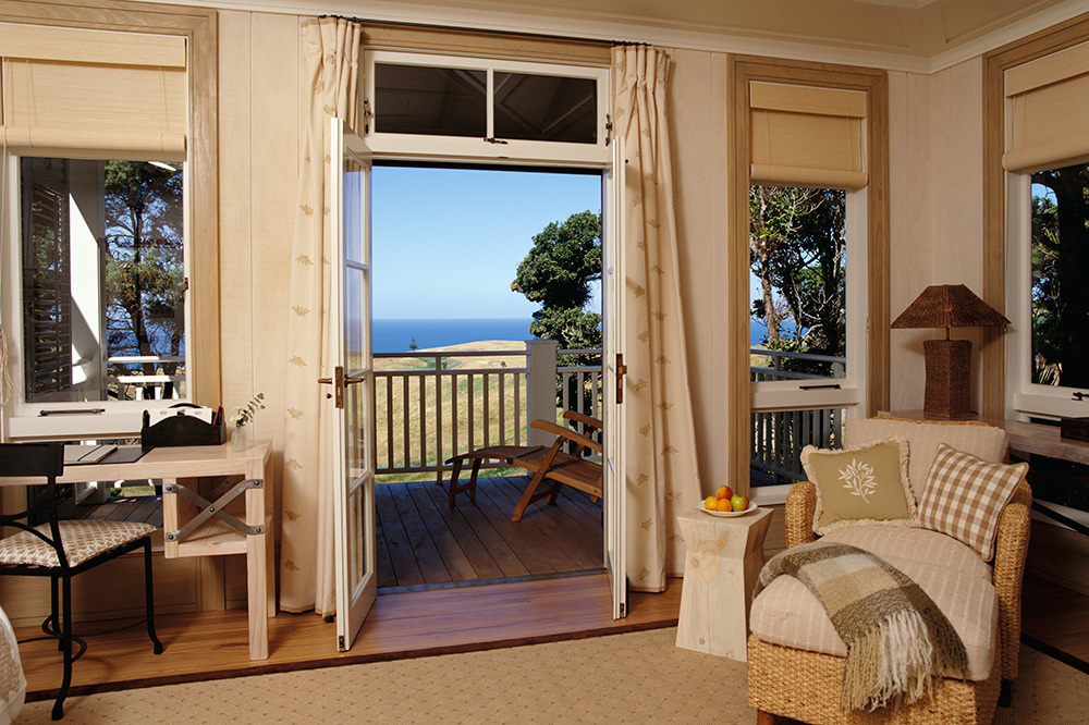 The Deluxe suite at The Lodge at Kauri Cliffs in Matauri Bay, New Zealand