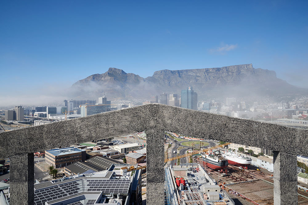 The rooftop sky terrace at The Silo in Cape Town, South Africa