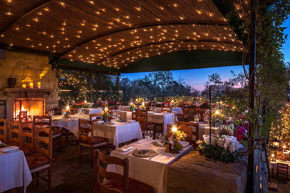 The Stonehouse restaurant at San Ysidro Ranch in Santa Barbara, California