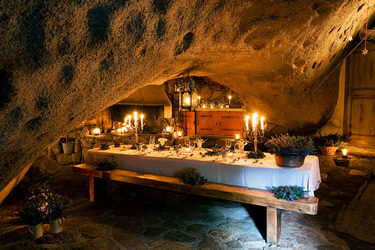 La Grotte dining at Domaine de Murtoli in Sartène, Corsica, France