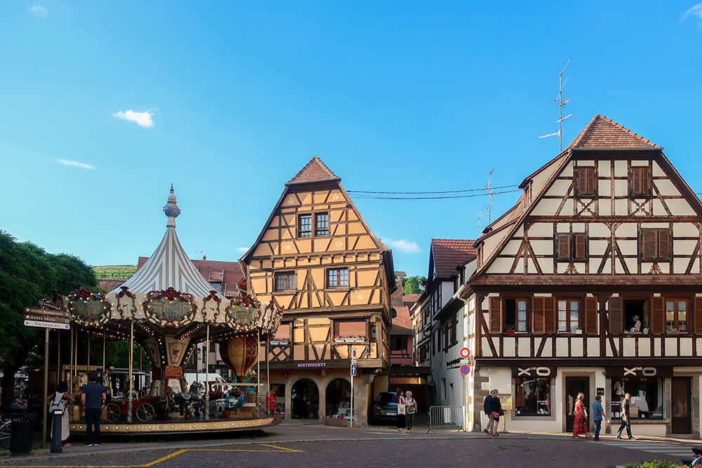 Town of Obernai in Alsace, France