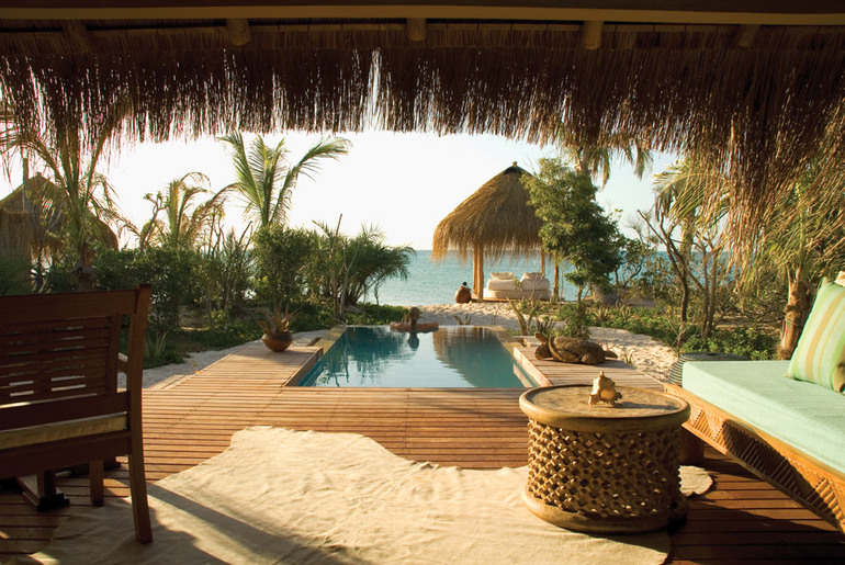Private plunge pool at Azura Benguerra Island