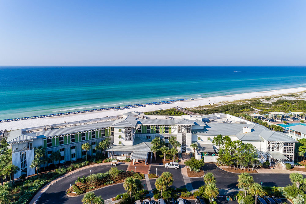 Aerial View Of Watercolor Inn In Santa Rosa Beach Florida