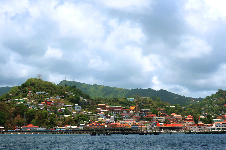 View of St. George's seen while sailing with Savvy Tours in Grenada