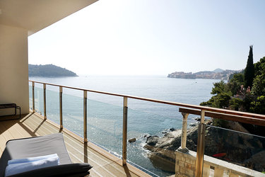 The view from the terrace of our Standard Suite at Villa Dubrovnik in Dubrovnik, Croatia