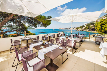 The terrace of Restaurant Pjerin at Villa Dubrovnik in Dubrovnik, Croatia
