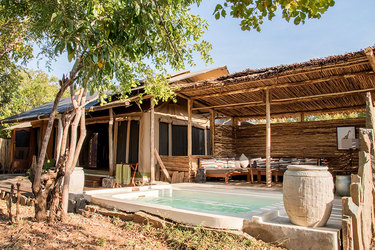 The exterior of Villa Twiga at Azura Selous in the Selous Game Reserve, Tanzania