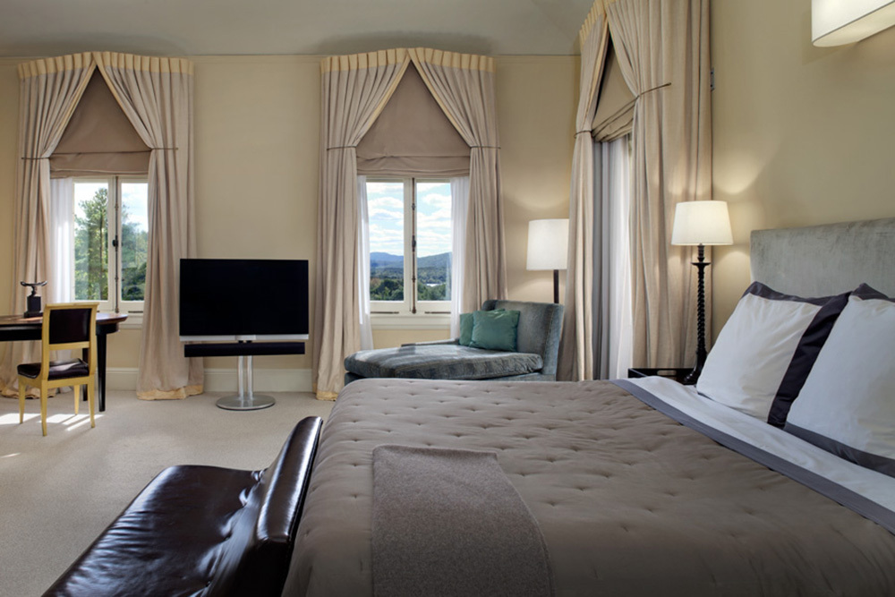 A junior suite at Wheatleigh in Lenox, Massachusetts
