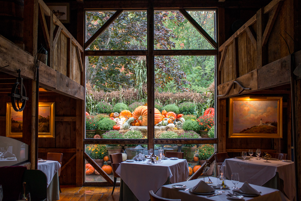The White Barn Inn and Spa Fall Dining Room