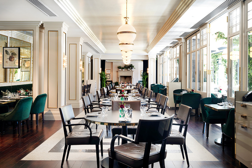 Interior of Wilde restaurant at The Westbury in Dublin, Ireland