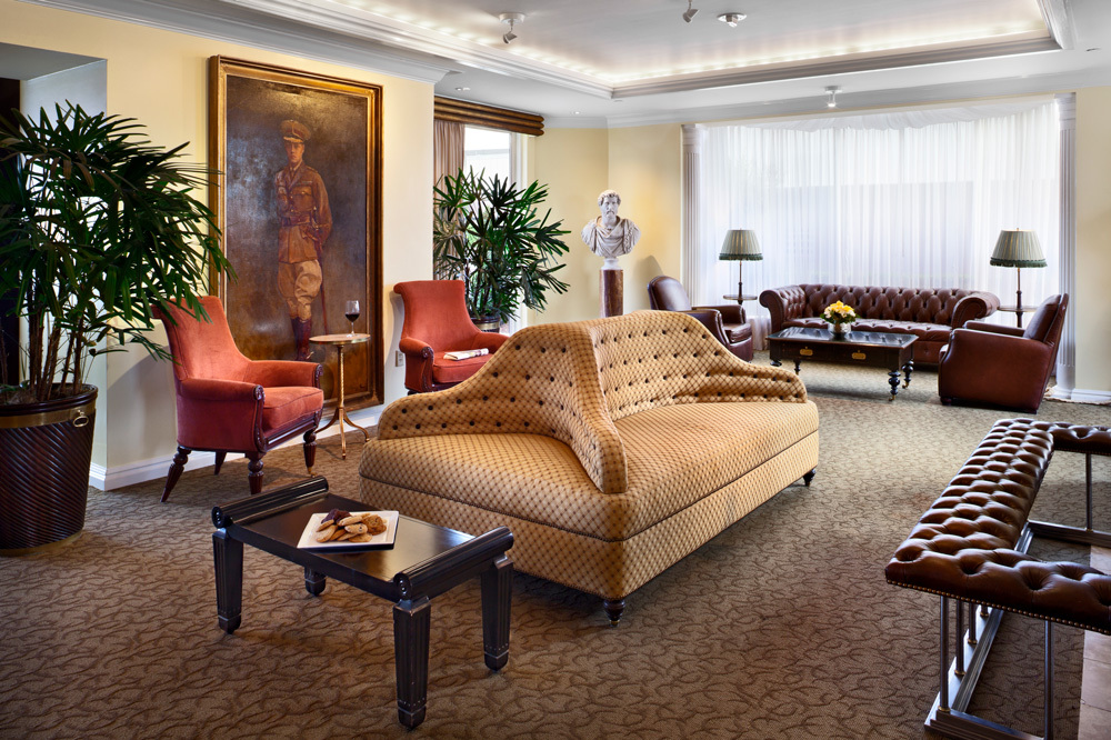 The hotel club lounge at Windsor Court Hotel in New Orleans, Louisiana