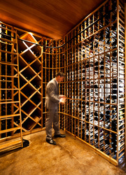 The Wine cellar at The Inn at Dos Brisas in Washington, Texas